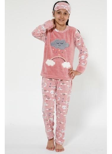Akbeniz Welsoft Çocuk Pijama Takım Somon